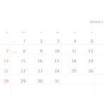 シンプルカレンダー横型(2018年版)